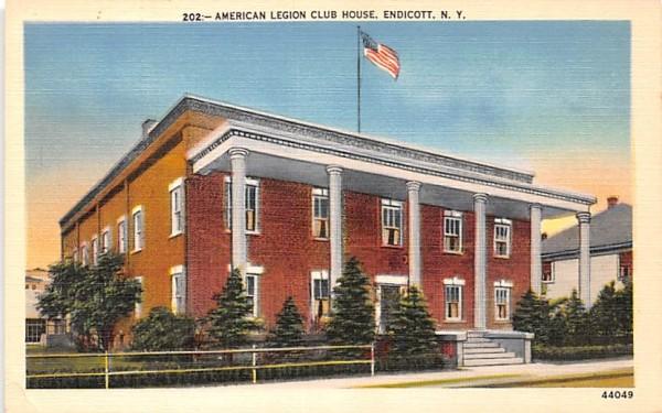 American Legion Club House Endicott, New York Postcard
