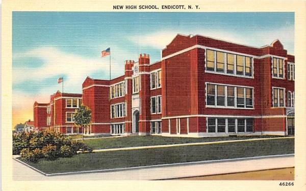 New High School Endicott, New York Postcard