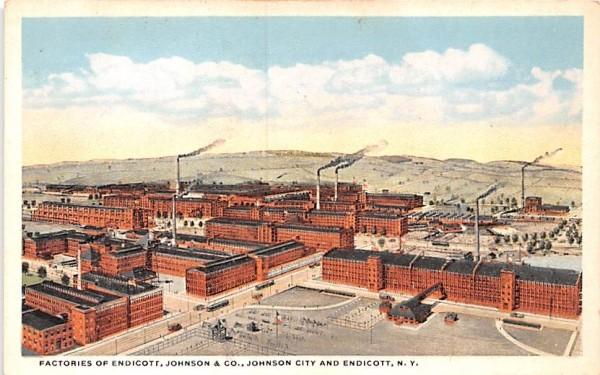 Factories of Endicott, Johnson & CO New York Postcard