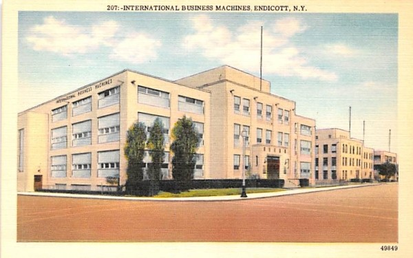 International Business Machines Endicott, New York Postcard