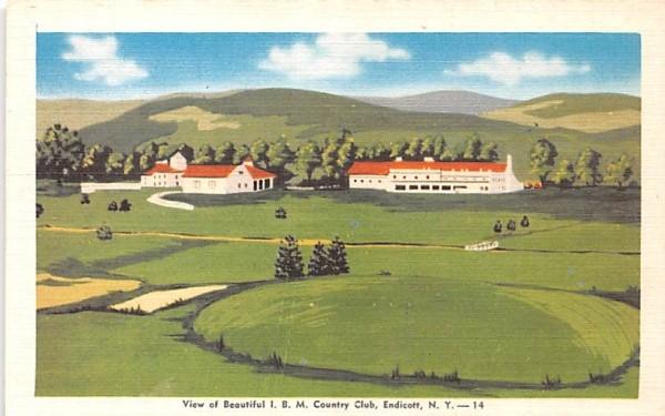 IBM Country Club Endicott, New York Postcard