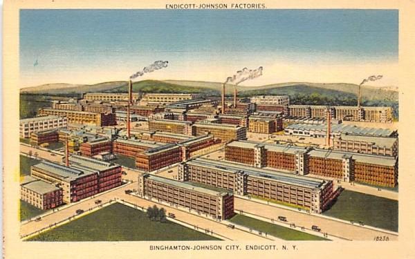 Endicott Johnson Factories New York Postcard