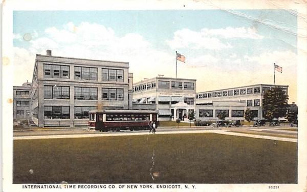 International Time Recording Co Endicott, New York Postcard