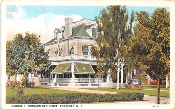 George F Johnson Residence Endicott, New York Postcard