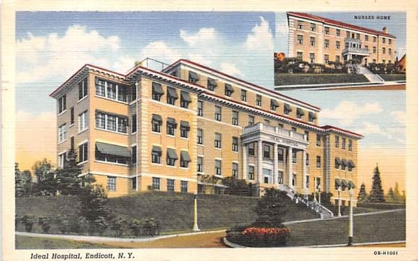 Ideal Hospital Endicott, New York Postcard