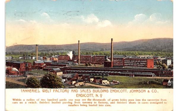 Tanneries, Welt Factory & Sales Building Endicott, New York Postcard
