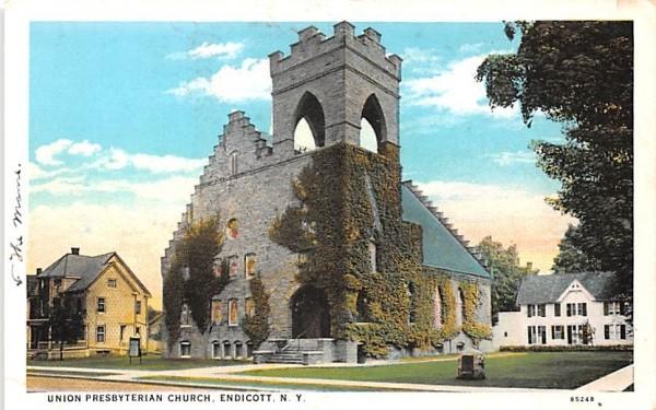 Union Presbyterian Church Endicott, New York Postcard