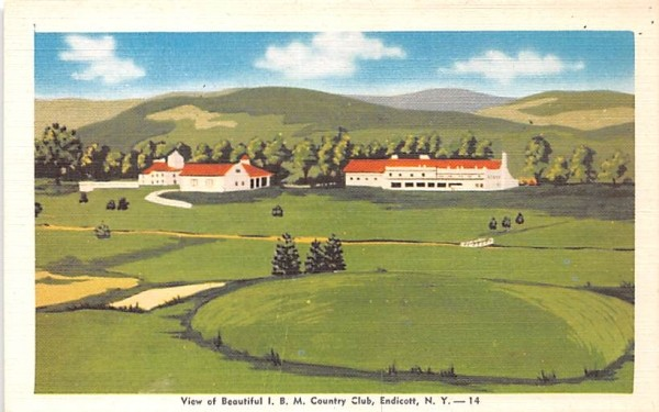 IMB Country Club Endicott, New York Postcard
