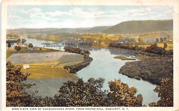 Susquehanan River Endicott, New York Postcard