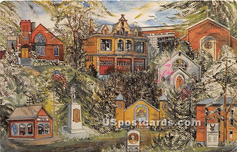 Elmira Heights Historical Society - New York NY Postcard