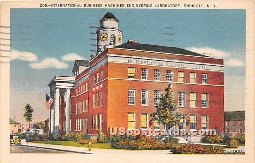 International Business Machines Engineering - Endicott, New York NY Postcard