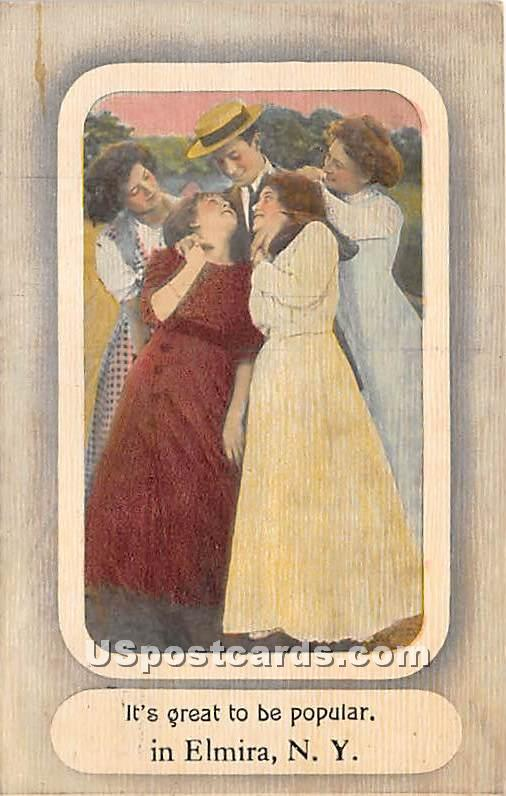 Elmira, New York NY Postcard