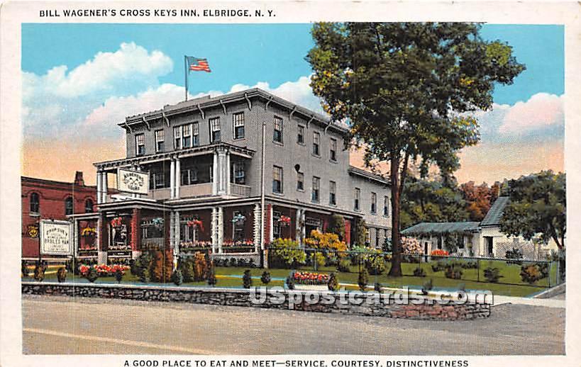 Bill Wagener's Cross Keys Inn - Elbridge, New York NY Postcard