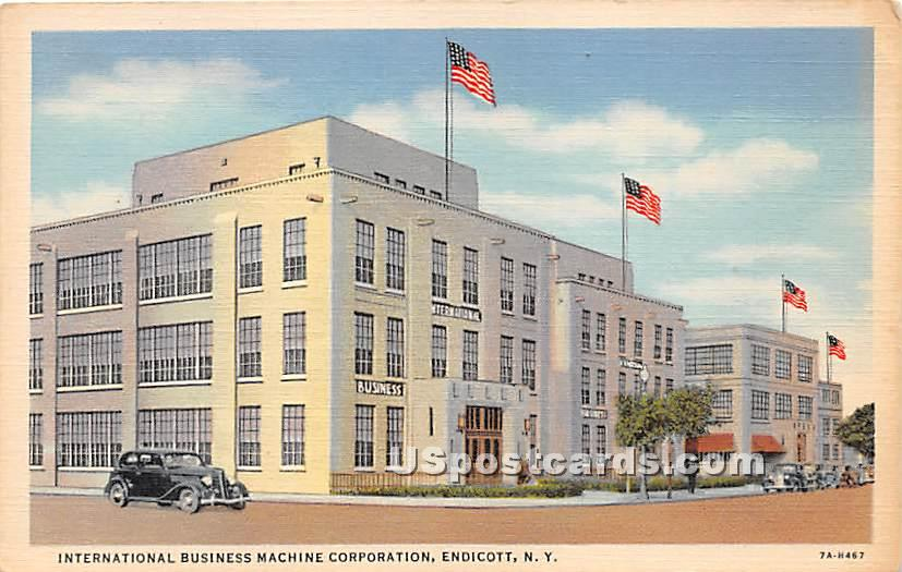 International Business Machine Corporation - Endicott, New York NY Postcard