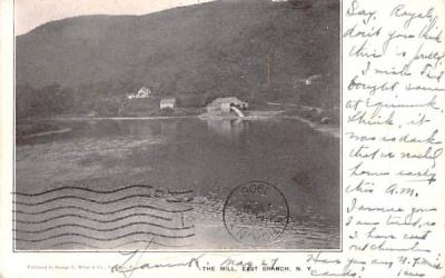 The Mill East Branch, New York Postcard