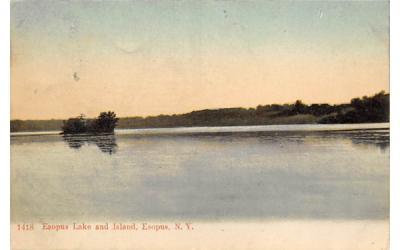 Lake and Island Esopus, New York Postcard