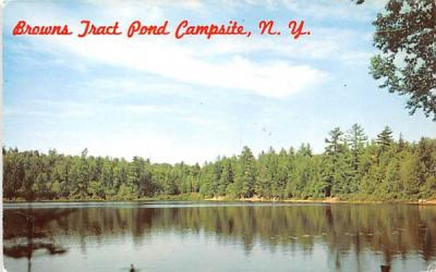 Browns Tract Pond Campsite Eagle Bay, New York Postcard