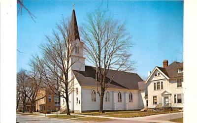 Immaculate Conception Catholic Church & School East Aurora, New York Postcard