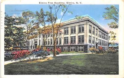 Elmira Free Academy New York Postcard
