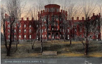Elmira Female College New York Postcard