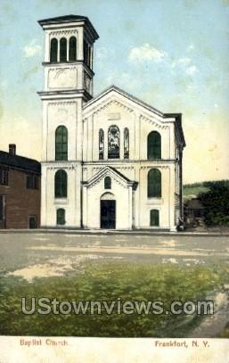 Baptist Church - Frankfort, New York NY Postcard