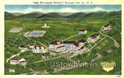 Hillside Hotel, Landis - Ferndale, New York NY Postcard