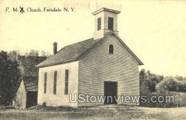 Church - Ferndale, New York NY Postcard