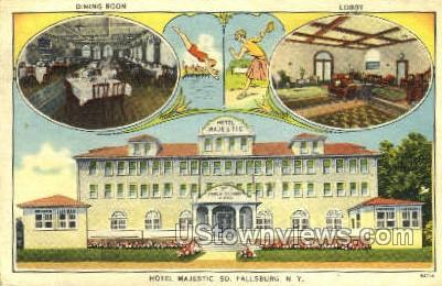 Hotel Majestic - South Fallsburg, New York NY Postcard