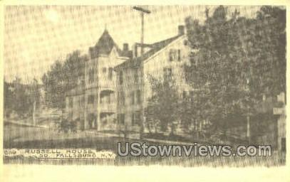 Reproduction Russell House - South Fallsburg, New York NY Postcard