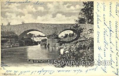 Stone Arch Bridge - South Fallsburg, New York NY Postcard