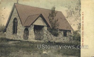 Little Stone Church - South Fallsburg, New York NY Postcard