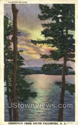 Lake - South Fallsburg, New York NY Postcard