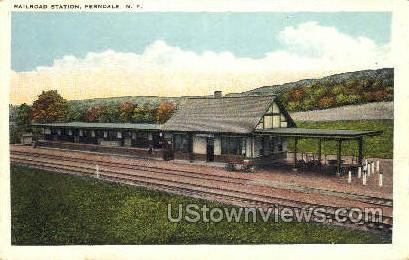 Railroad Station - Ferndale, New York NY Postcard