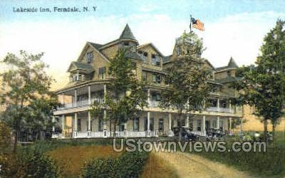 Lakeside Inn - Ferndale, New York NY Postcard