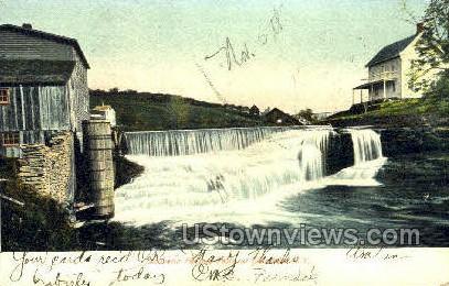 Souvenir Factory Falls - Ferndale, New York NY Postcard