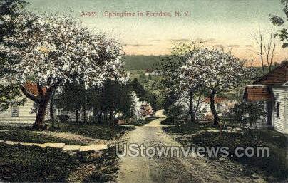 Springtime - Ferndale, New York NY Postcard