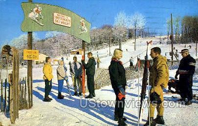 Grossinger's Ski Valley - Ferndale, New York NY Postcard