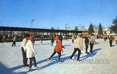 Grossinger's Hotel Ice Skating Rink - Ferndale, New York NY Postcard