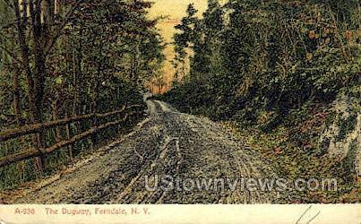 Dugway - Ferndale, New York NY Postcard