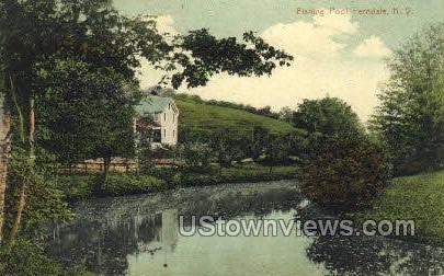Fishing Pool - Ferndale, New York NY Postcard