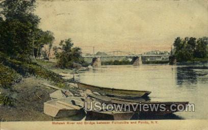 Mohawk River - Fonda, New York NY Postcard