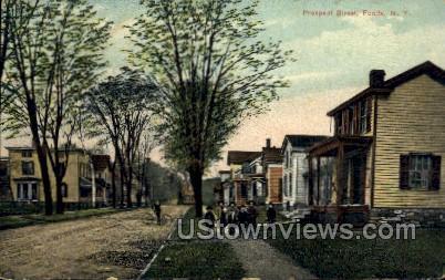 Prospect Street - Fonda, New York NY Postcard