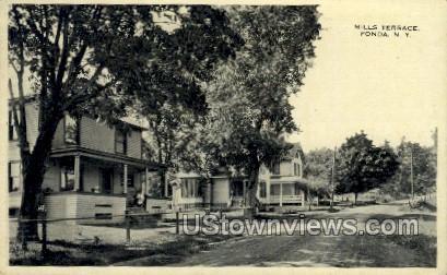 Mills Terrace - Fonda, New York NY Postcard