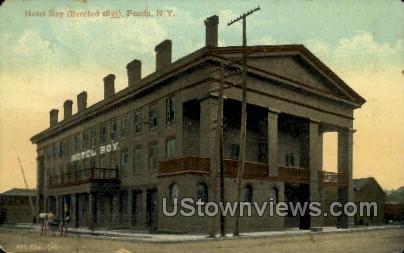 Hotel Roy - Fonda, New York NY Postcard