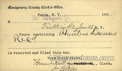 County Clerk's Office - Fonda, New York NY Postcard