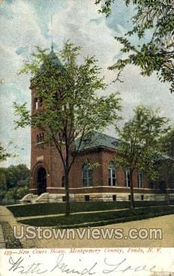 Court House - Fonda, New York NY Postcard