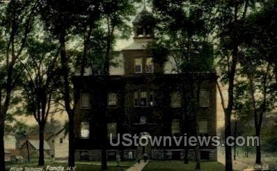 High School - Fonda, New York NY Postcard