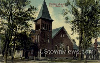 Baptist Church - Ft Plain, New York NY Postcard