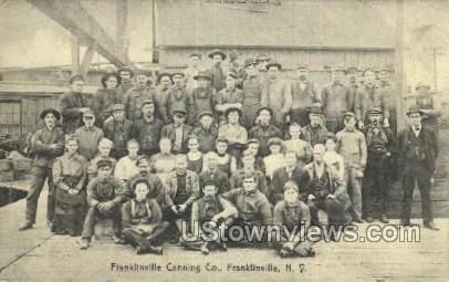 Canning Co. - Franklinville, New York NY Postcard