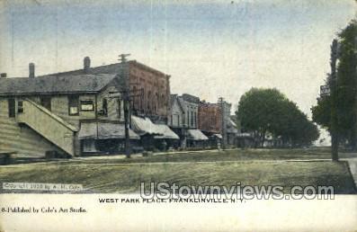 West Park Place - Franklinville, New York NY Postcard